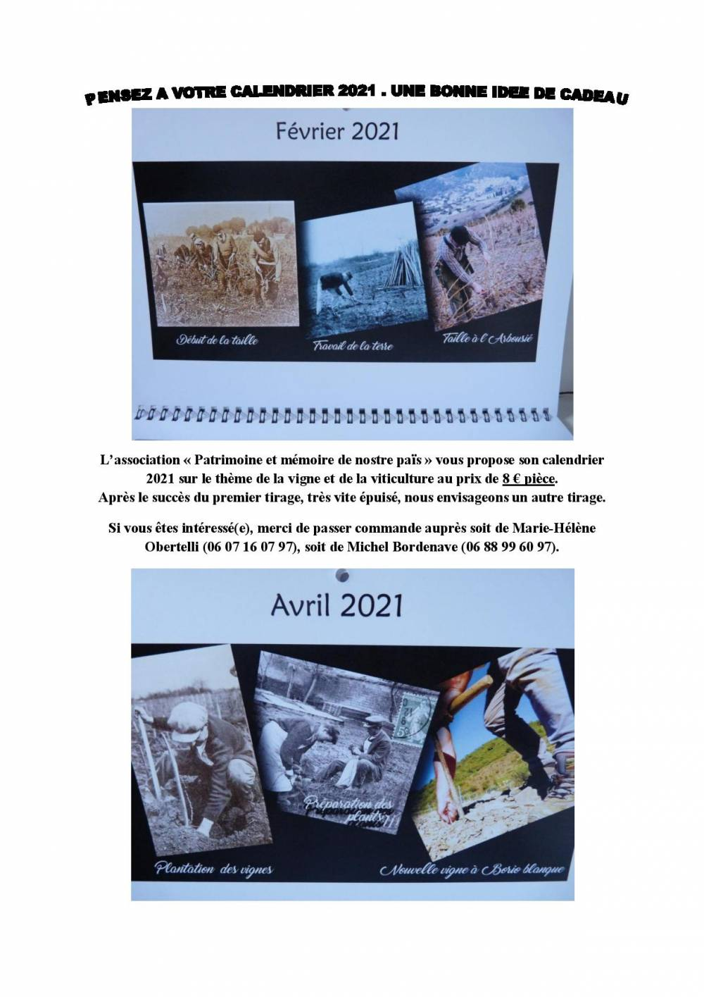 Vente calendriers 2021 page 001